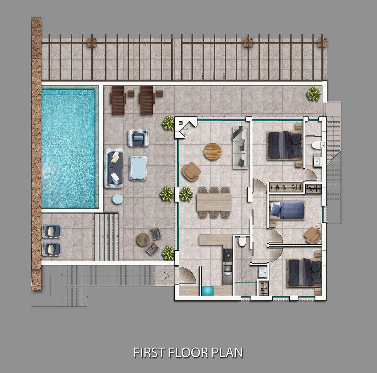 Block C1-C4 - 3 bedroom penthouse