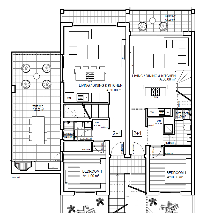 Living area & terrace - Ground floor