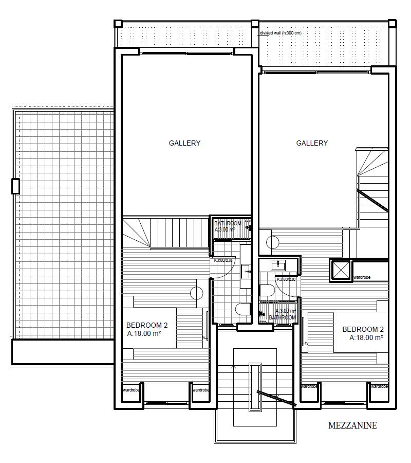 Living area & terrace - First floor