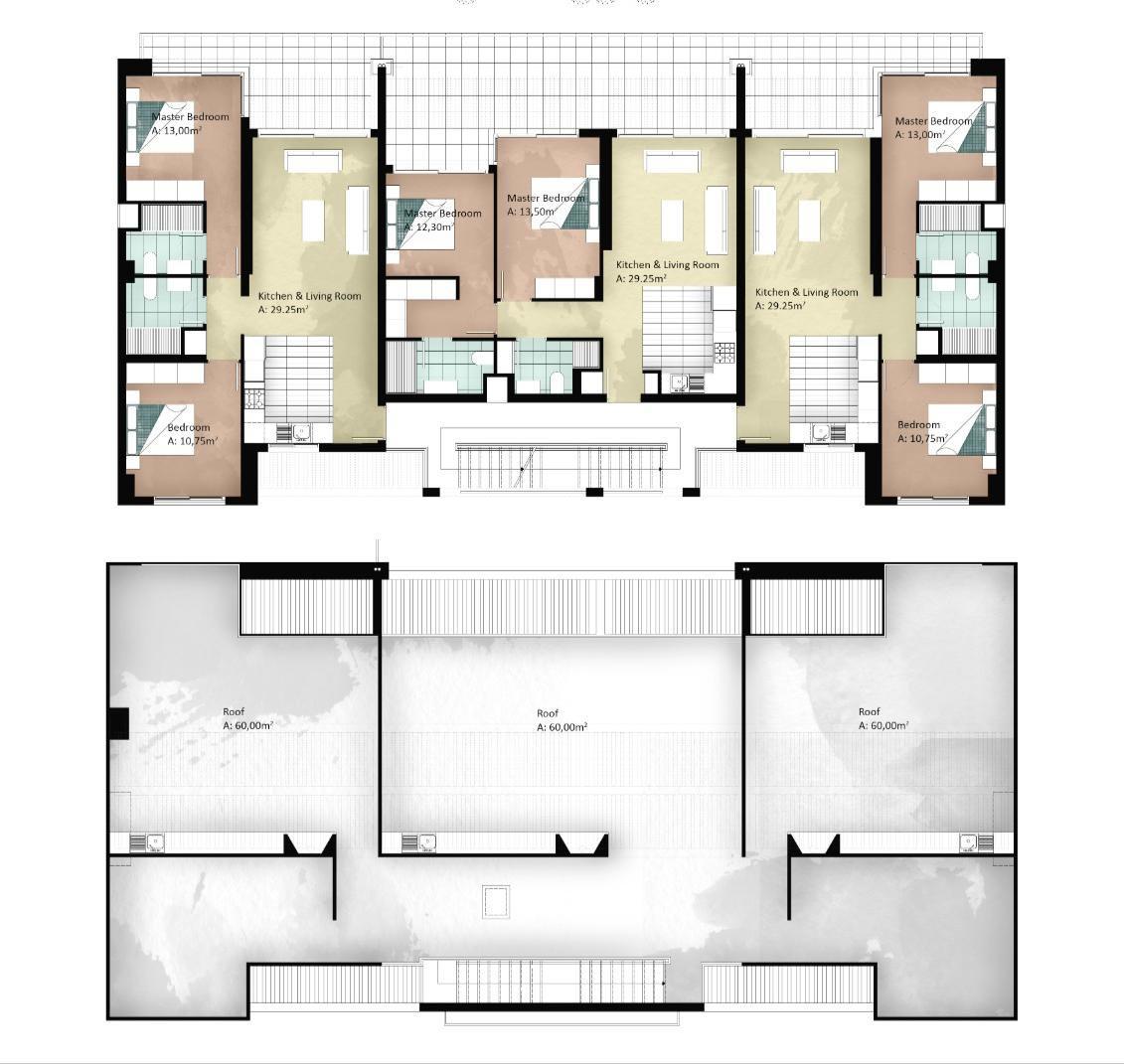 Block 8 & 9 - 2 bedroom penthouse
