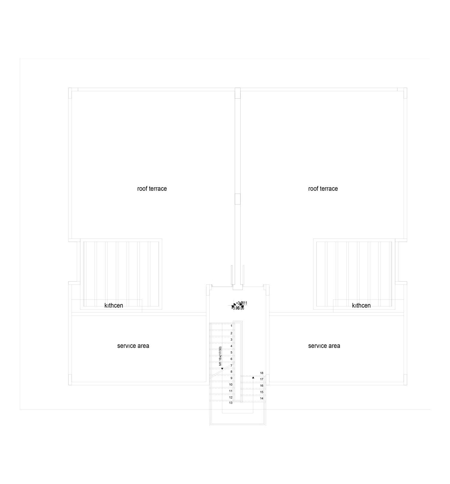 Block 10 - apt no: 3 & 4 - roof terraces