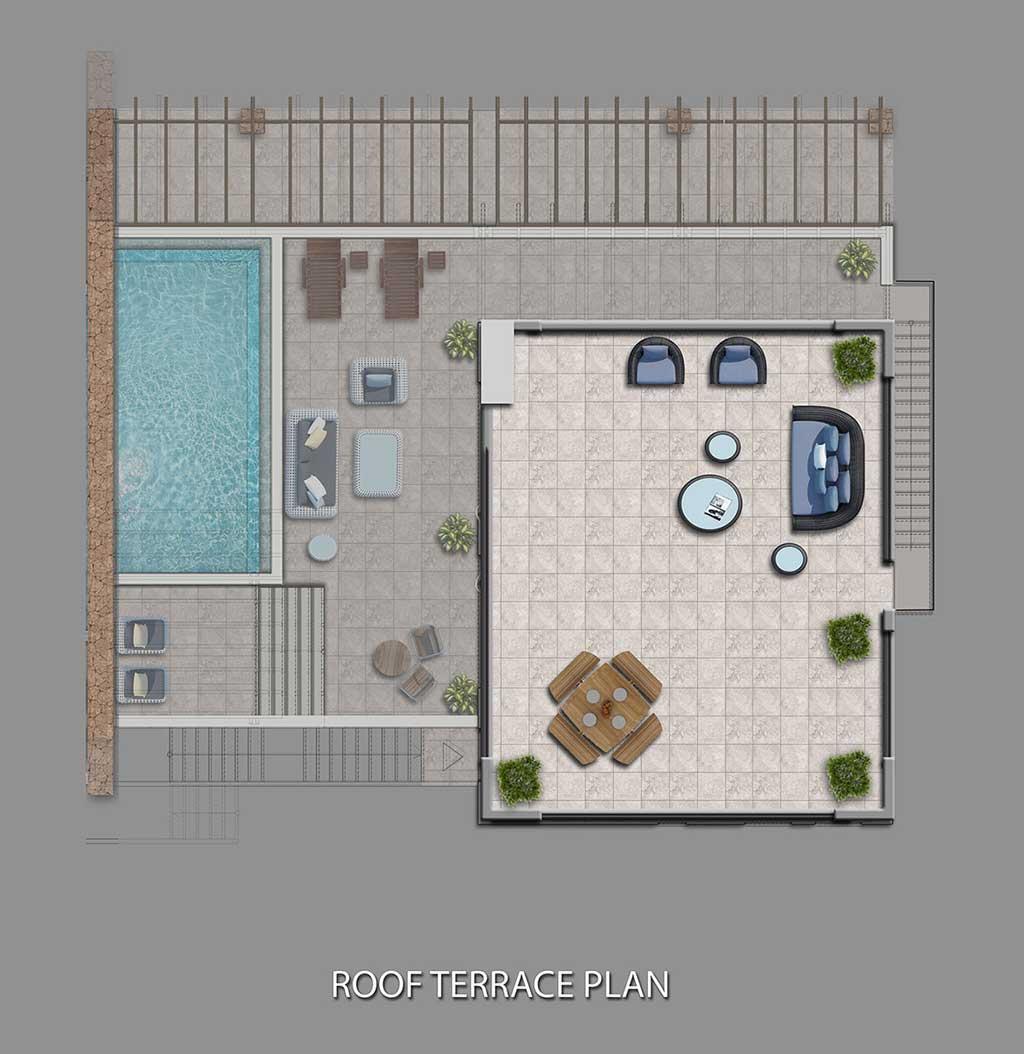 Block C1-C4 - Roof terrace